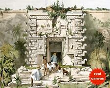 MAYAN GATE RUINS TEOCALLIS UXMAL MEXICO CATHERWOOD PAINTING ART CANVAS PRINT