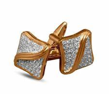 1.50ct Natural Round Diamond 14k Solid Yellow Gold  Mens Cufflinks