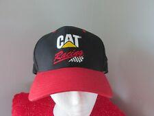 Cat Caterpillar Racing Hat Red/Black Snapback Hat Cap Cyrk EUC