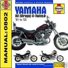 Yamaha Xv535 XV750 XV1000 XV1100 Virago Haynes Manuel