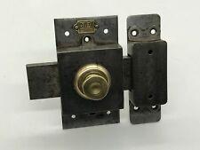 Antique Verrou Iron And Bronze Full / Complete Plate J.D 1er Quality 7 X 14 CM