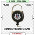 Emergency First Responder ID Card Cord Reel Rescue Fire EFR FR Medical - D 26