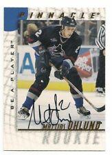 Mattias Ohlund 97-98 Pinnacle Be A Player Autograph Signature