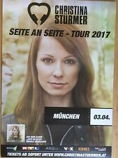 CHRISTINA STÜRMER  2017 MÜNCHEN ++ orig.Concert Poster -- Konzert Plakat  A1 NEU