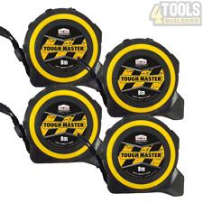 4 x Toughmaster Pocket Tape Measures Metric / Imperial 8M/26ft Anti-Impact