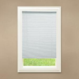 CUSTOM CUT Hampton Bay White Cordless 1 in. Room Darkening Vinyl Blinds