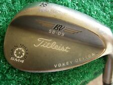 Titleist Vokey SM4 Black Nickle 58* Lob Wedge dynamic gold Steel S300 9* bounce