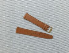 Fortis Vintage Leather Ostrich Grain watch Strap 18mm Tan