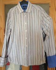 shirt Designer PETERWERTH  4  Top  Quality Double cuff 44 chest muti col stripe