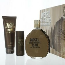 DIESEL FUEL FOR LIFE 3 PIECE GIFT SET - 2.5 OZ EAU DE TOILETTE SPRAY New for Men