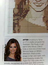 cross stitch chart CHERYL COLE from X-factor