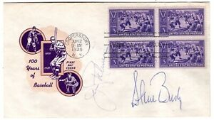 #855 Baseball First Day Cover 1939 Mellone #50D Signed Jim Palmer, Steve Busby