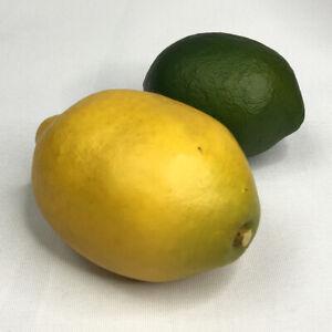 Lemon And Lime Set Fake Fruit Vintage Decor Prop Staging VINTAGE USA