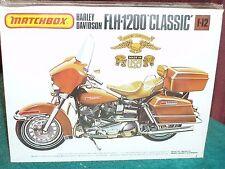 1977 RELEASE MATCHBOX FLH-1200 HARLEY DAVIDSON PLASTIC MODEL KIT 1/12 STILL SEAL