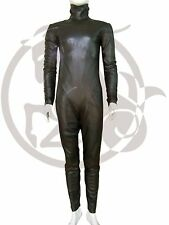 Genuine Leather Unisex Catsuit Over All Jumpsuit Lamb Skin Leather YKK Zipper