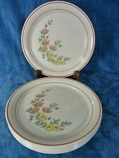 """Corelle Rose Garden Dinner Plates 10 1/4"""" Set of 7"""