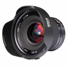 Meike 12mm F2.8-f22 Ultra Wide Angle Manual Fixed Lens for Sony NEX APS Frame