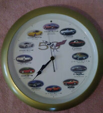 50th Anniversary Corvette Clock With Sounds Analog Wall Cars