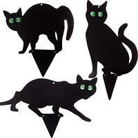 3 x Black Metal Cats Scarer Pest Control Animal Bird Deterrent for Garden