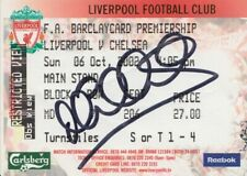 Michael Owen Hand Signed Ticket Stub - Liverpool Autograph - Football.