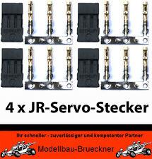 4 x JR-Servo Stecker zum Crimpen für Hitec Multiplex Graupner Savöx TT Servos