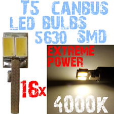 16x 5630 4000K T5 LED verlichting lampen 12V Dashboard CANBUS Geen Fout 1C9 1C9-