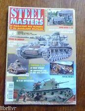 Maquetisme revue STEEL MASTER N°5 Panzerdivision Stuart - Char T 26 Le 155 GPF