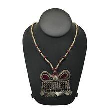 Handmade Vintage Afghan Tribal Kuchi Fashion Chained Jingle Necklace,KN294