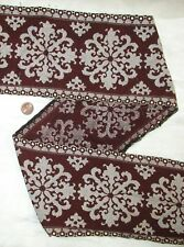 Vintage Antique Border Sari Trim Lace RARE OLD EMBROIDERED 2 ft Maroon #ABE5Z