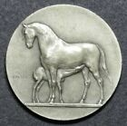 French Art Nouveau silver medal Horse by Peter (1929)