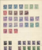 Uruguay Stamps on album page Ref 15608