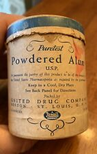 Vintage Puretest Powdered Alum Rexall United Drug Co 4 Oz Container