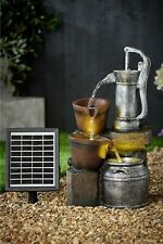 Water Pump Solar Water Flows with Light Outside Garden Decoration Fountain