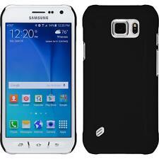 Funda Rígida Samsung Galaxy S6 Active - goma negro + protector de pantalla