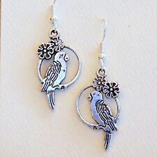 Pewter Parrot earrings Parrothead (Jimmy Buffett fans) Bird Jewelry