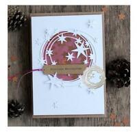 Stars Circle Metal Cutting Dies Stencil Scrapbooking Embossing DIY Card Crafts