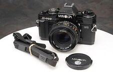 :Minolta X-700 35mm Film SLR Camera w MD 50mm F1.7 Lens & Strap