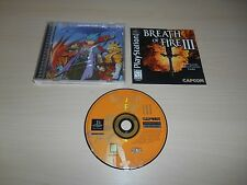 Breath Of Fire III 3 Complete Playstation 1 PS1 CIB Black Label Game
