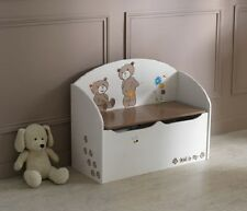TED AND LILY TOY BOX IN CREAM & BROWN