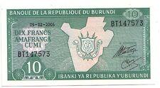 Burundi   10 franchi  2005      FDS  UNC    pick 33 e       lotto 3581