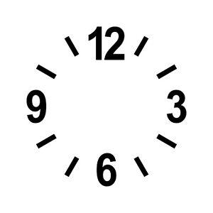 Zahlen Ziffern 6cm + Striche schwarz Tattoo Aufkleber Deko Folie Uhr Zifferblatt