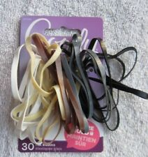 30 Goody Secure Hold Flat No Metal Elastics Wide Silicone Hair Bands Java White