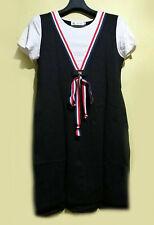 Bow  detailed  colorblock cotton shirt dress