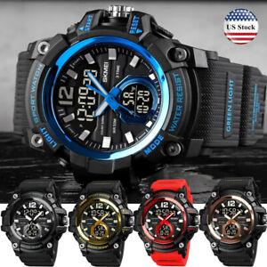 SKMEI Men's LED Digital Analog 3 Time Outdoor Sport 50M Waterproof Wrist Watch