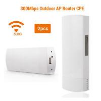 11n 300 95Mbps long range 2KM link Pair