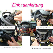 Lackieren Schwarz Lenkrad Abdeckung BMW 5er F10 F11 6er F12 F13 7er F01 M Emblem