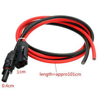 1 Pair Black & Red Solar Panel Extension Cable Wire MC4 Connector 10/12/14AWG