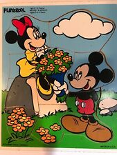 Disney Playskool wooden Mickey & Minnie Puzzle, 10 puzzle pcs.