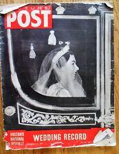 Picture Post Magazine Nov 1947 Royal Wedding Princess Elizabeth & Phillip