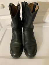 """WOMENS ARIAT HERITAGE ROPER BLACK LEATHER 9"""" WESTERN COWBOY BOOTS 7 B"""